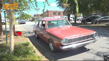 Vintage cars staged as crews film BET's 'American Soul' in Atlanta