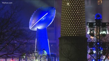 Giant Lombardi trophy on display for Super Bowl 53 built by Duluth company