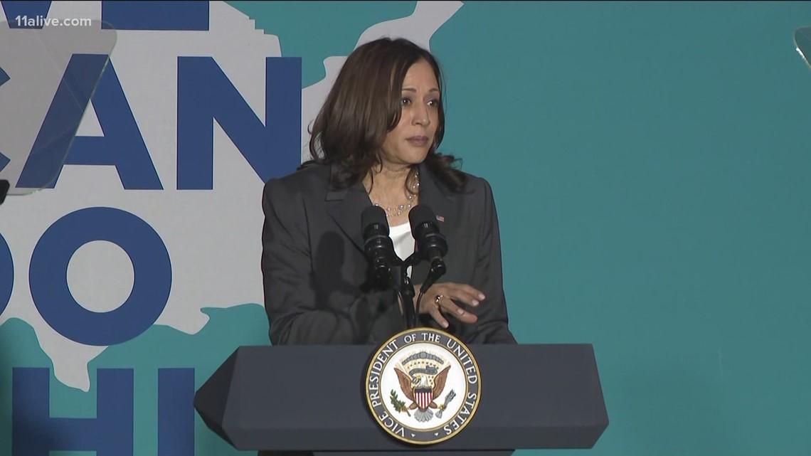 VP Kamala Harris urges people to get vaccine in Georgia