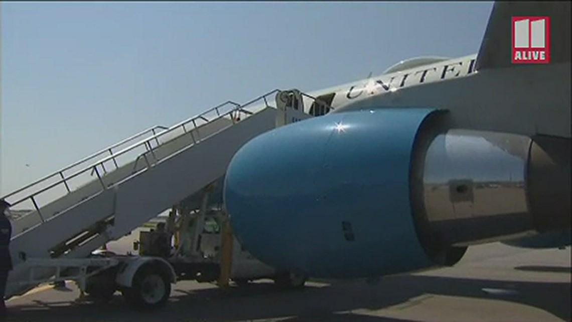 Vice President Kamala Harris arrives in Atlanta