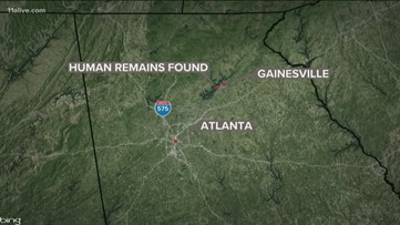 Human remains found along road in Gainesville
