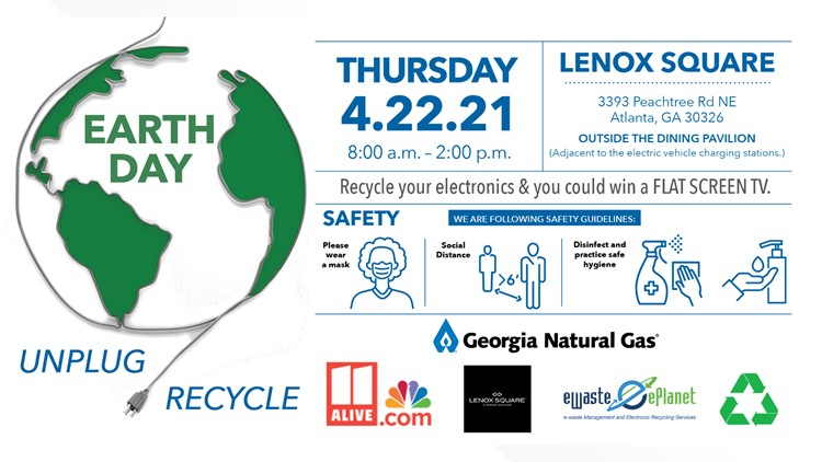 Georgia Natural Gas invites community to recycle electronics at Lenox Square on Earth Day, April 22