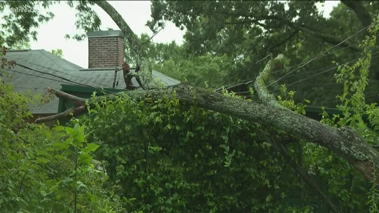 Severe weather leaves behind damage, power outages across metro Atlanta