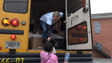Marietta City Schools employ bus drivers to deliver meals to hungry kids during school closure
