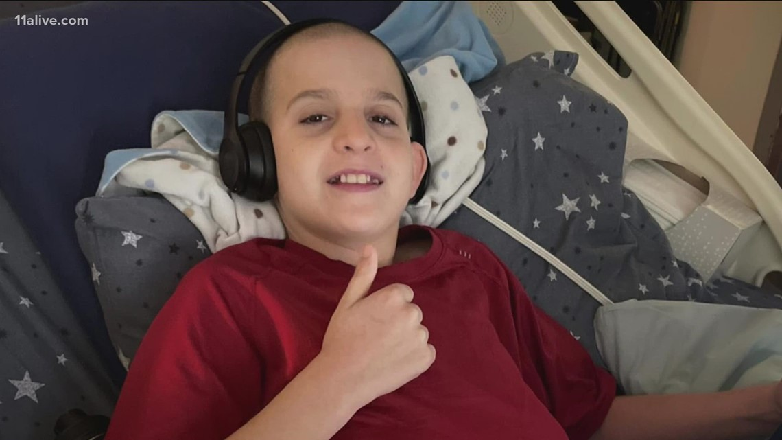 He's 14, a three-time cancer survivor, and now he's paying it forward