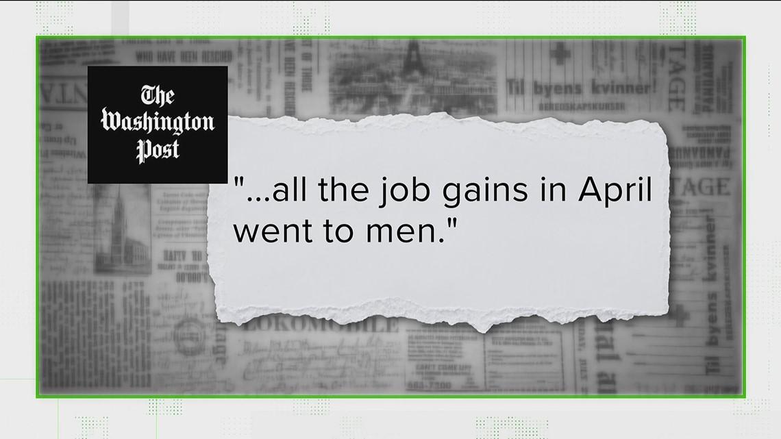 VERIFY: Did all of April's job gains go to men?