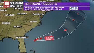 Humberto upgraded to a hurricane