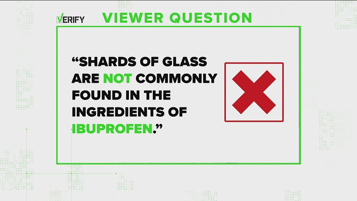VERIFY: Glass is NOT an ingredient of this over-the-counter medicine