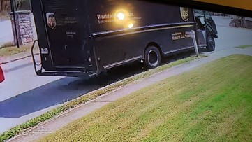 East Point woman says UPS truck plowed into her mailbox