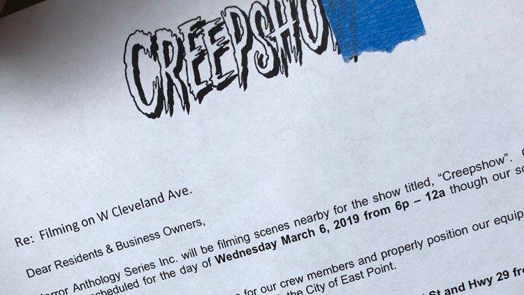'Creepshow' filming in East Point