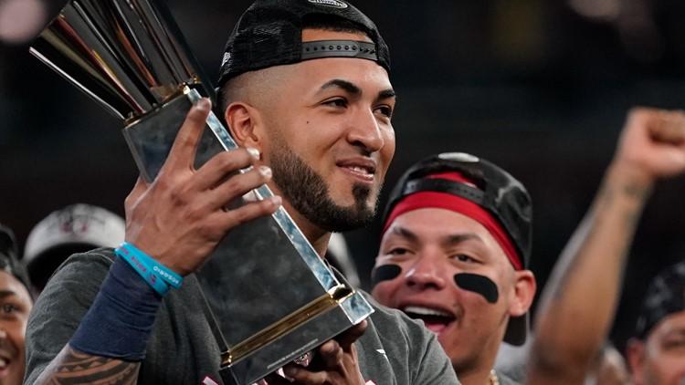 Eddie Rosario's hot bat leads him to NLCS MVP