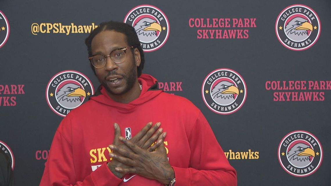Full interview | 2 Chainz at Skyhawks basketball open tryouts