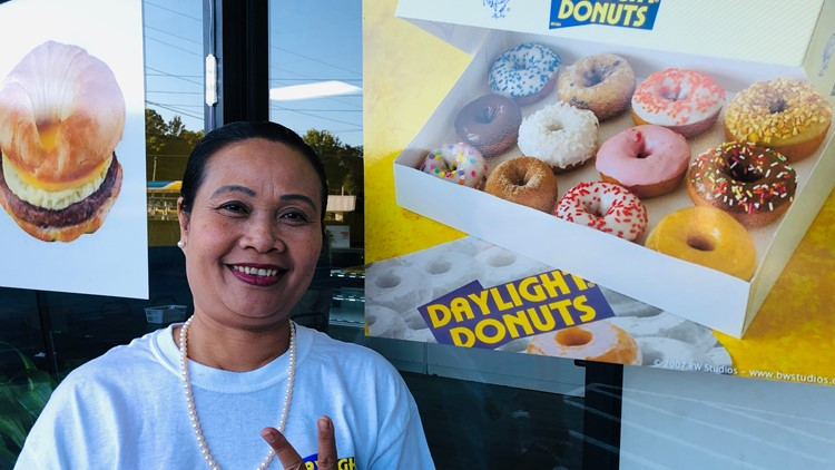 Daylight Donuts owner, Mine (pronounced 'Mee-NAY')