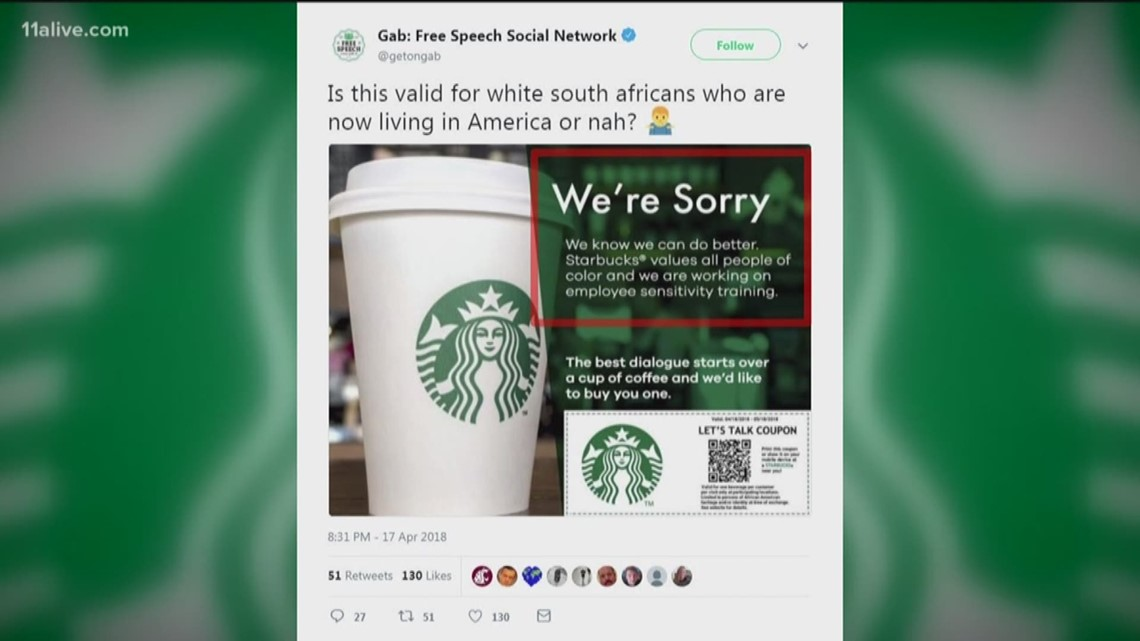verify is starbucks offering a coupon for black people