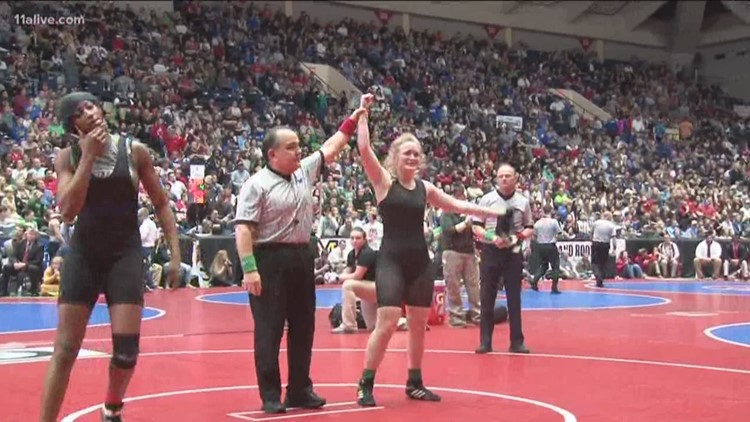 North Forsyth junior makes history as Georgia's first girl's wrestling champion