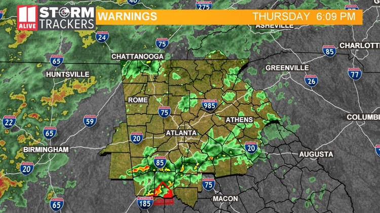 BLOG | Tornado warning issued for a few Georgia counties