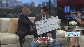 11Alive presents $30K check to Super Bowl Host Committee that will go towards park renovations