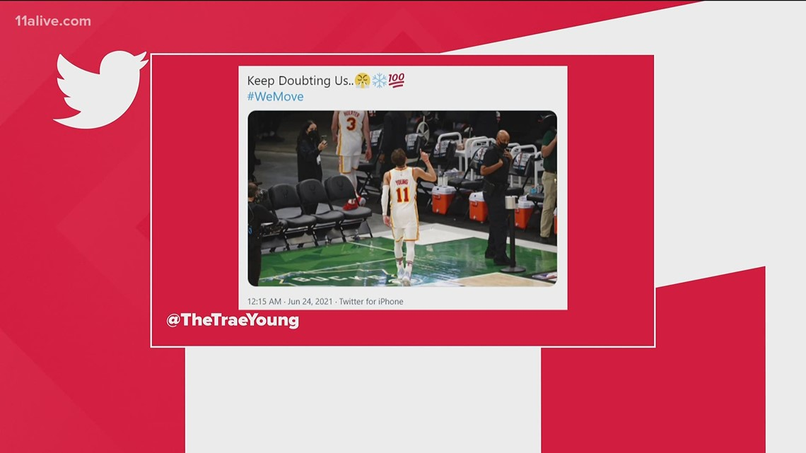 'Keep doubting us' Trae Young tweets after Hawks win Game 1