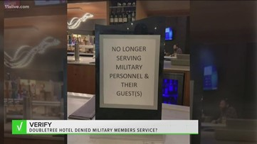 Verify: Did Doubletree hotel deny service to military members?