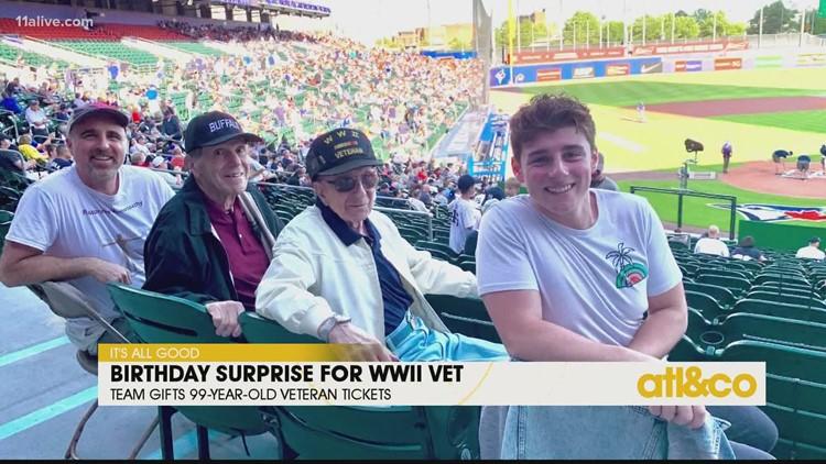 Birthday Surprise for WWII Veteran