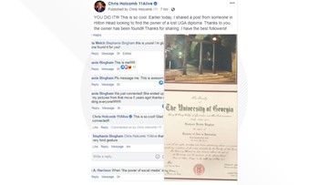 UGA grad reunited with lost diploma thanks help from 11Alive meteorologist and the internet