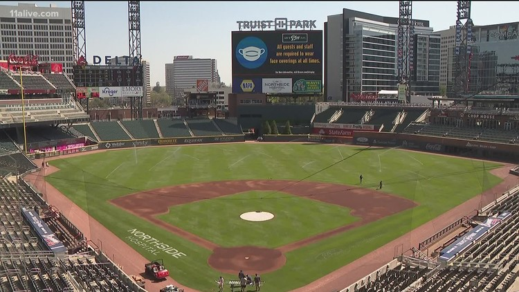 Braves postpone game due to inclement weather, rescheduled to double header on Father's Day