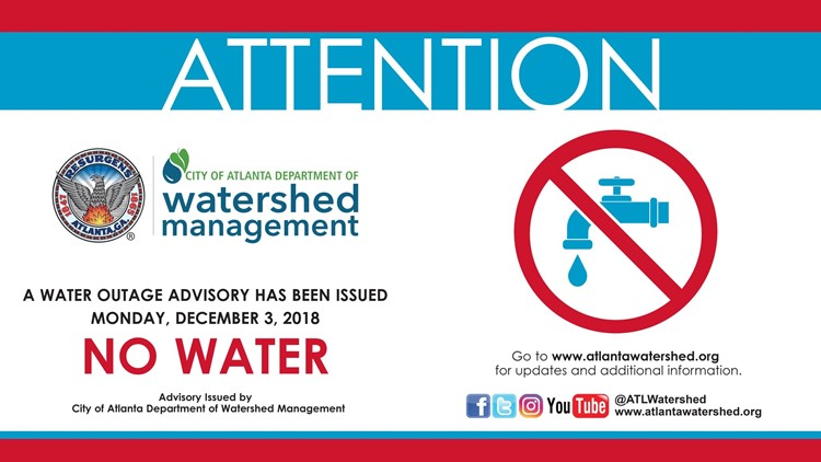 City of Atlanta boil water advisory