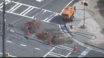 Gas leak shuts down Sandy Springs road
