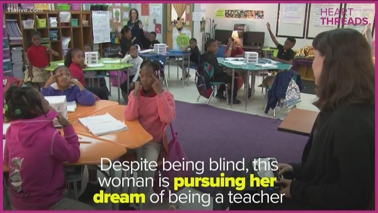 Despite blindness, woman pursues dream of being teacher