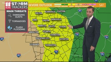Severe storms expected later on Saturday across the region