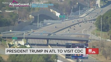 Watch the moment President Trump's motorcade travels along I-75 South