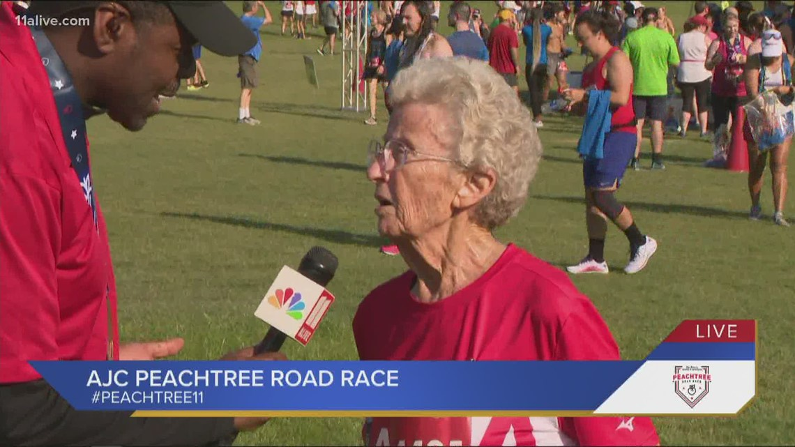 'Got it over and done with' | Betty has been in the AJC Peachtree Road Race 31 years