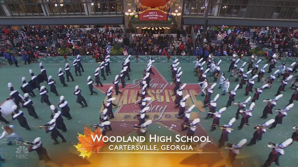 Watch Woodland High School Marching Band Performs In Macy S