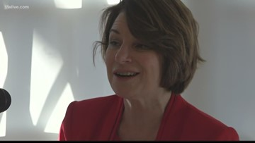 Amy Klobuchar holds event on voter suppression in Atlanta