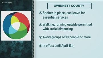 DeKalb, Gwinnett issue shelter-in-place orders