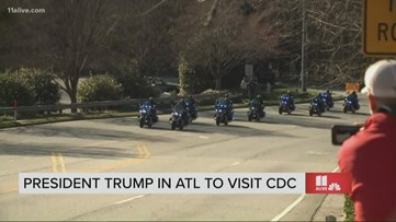 President Trump's motorcade heads to the CDC in Atlanta