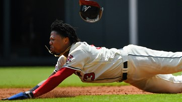 Braves star Acuña pulled from game after admiring flyball, failing to run