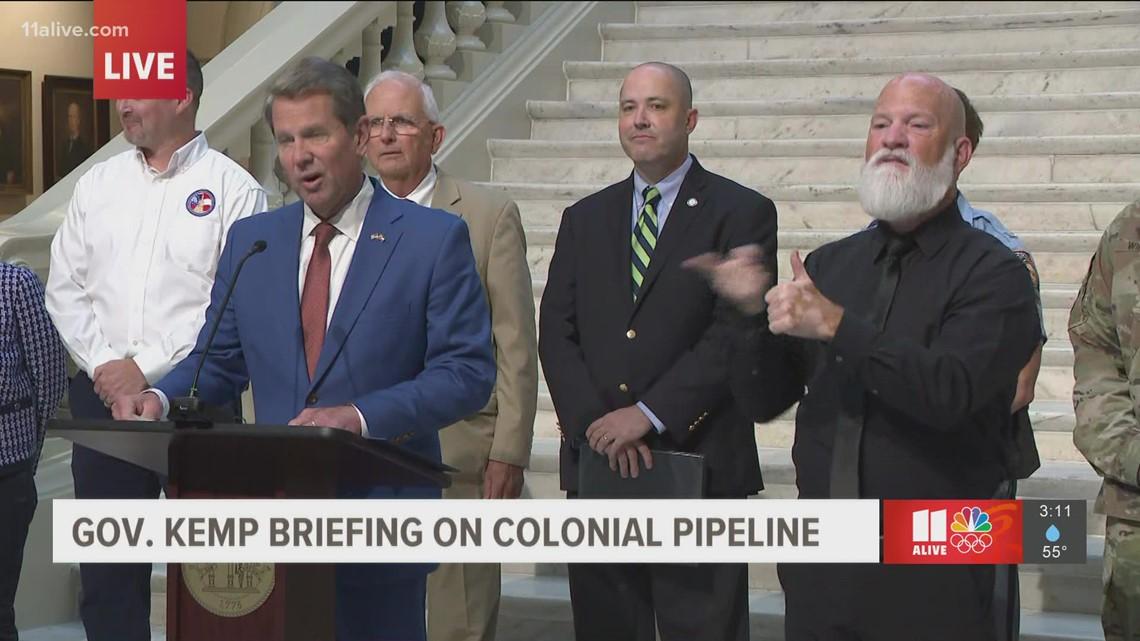 Georgia Gov. Kemp addresses gas shortage issues
