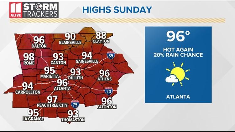 Forecast Sunday August 18