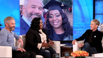 He paid off his Uber driver's school debt so she could graduate. Ellen rewarded the Atlanta man for his good deed