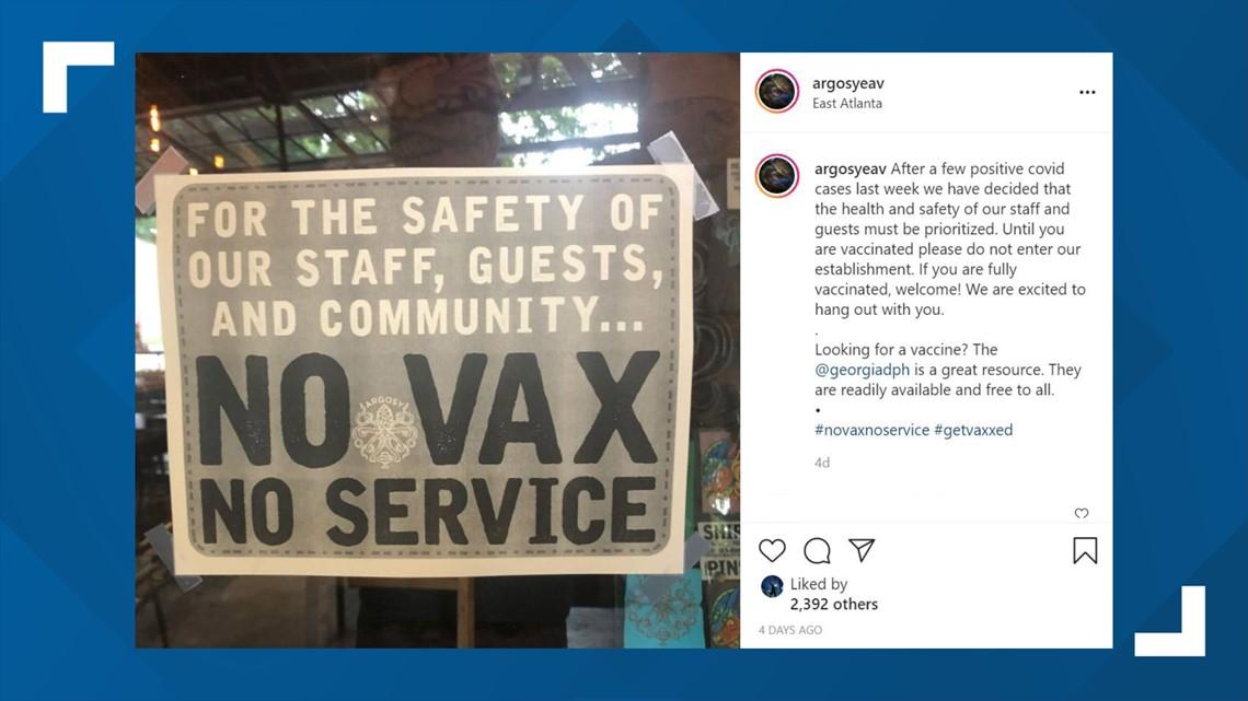 Atlanta restaurant requiring vaccine for guests