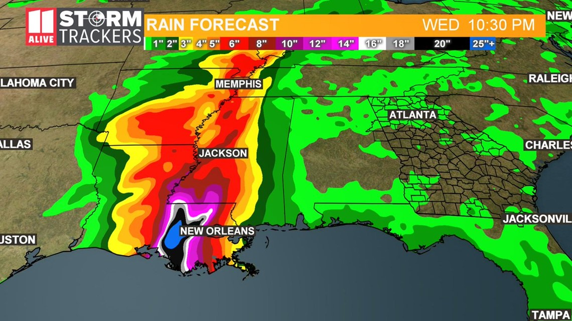Gas Companies In Georgia >> Tropical storm in Gulf right now updates   11alive.com