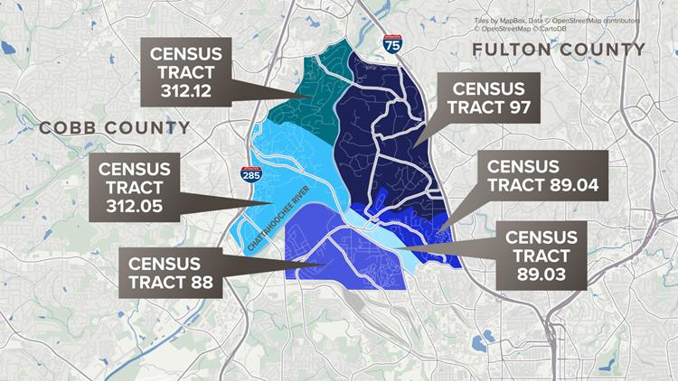 Census tract map Smyrna Sterigenics
