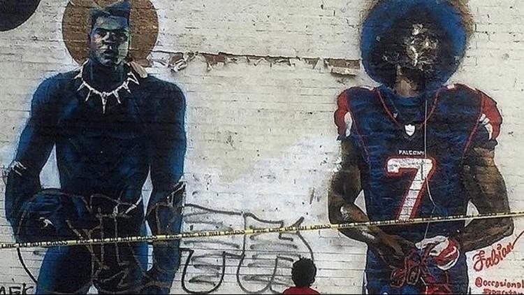 Original Kaepernick mural from southwest Atlanta