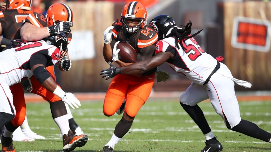 WATCH: Former UGA star Nick Chubb lights up the Falcons with record TD run