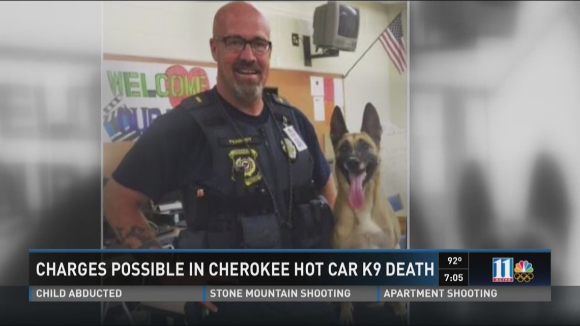 Charges possible in Cherokee hot car K9 death