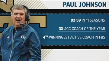 Georgia Tech's head coach Paul Johnson leaving