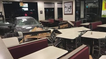 Young girl crashes stolen car into Chick-fil-A
