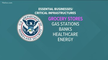 What is an essential business under Georgia's shelter-in-place order?