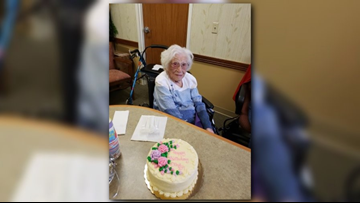 Woman celebrates 107th birthday